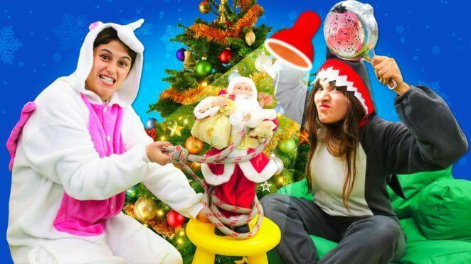 Unicorn ve Shark ile komik Yılbaşı videosu. Noel Baba'yı bayılttık! Unicorn hediyesiz mi kalacak?
