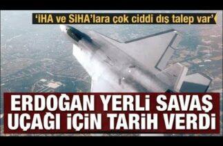 #sondakika Erdoğan yerli savaş uçağı için tarih verdi.!!