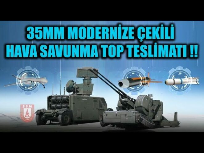 35MM MODERNİZE ÇEKİLİ HAVA SAVUNMA TOP TESLİMATI !!