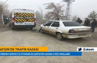 Afşin'de trafik kazası