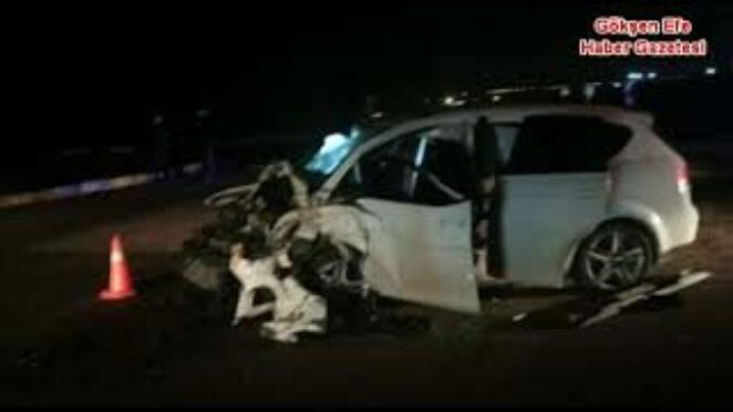 Ankara Sincan Ayaş Yolu üzerinde Otomobillle Kamyon kafa kafaya çarpıştı 1.ölü 2 yaralı