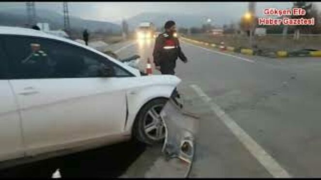 Başkent Ankara Sincan Ayaş Yolu İL Yakut Kavşağında Korkunç Kaza 1.ölü 2 yaralı