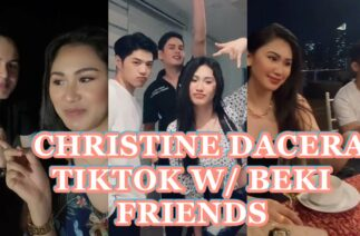 CHRISTINE ANGELICA DACERA TIKTOK VIDEOS WITH FRIENDS