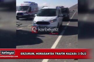 Erzurum, Horasan'da trafik kazası 3 ölü