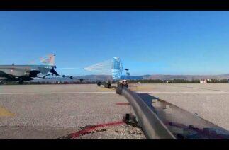 Eskişehir 1'inci Ana Jet Üs K.lığındaki Hook (Kanca) tipi uçak durdurucu sistemi