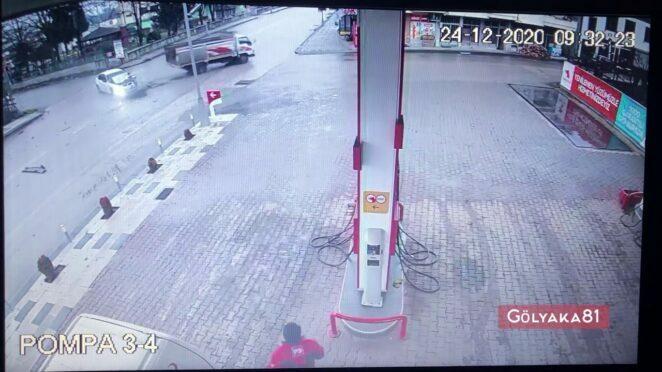 Gölyaka'da trafik kazası: 1 yaralı
