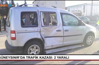 Güneysınır'da trafik kazası: 2 yaralı