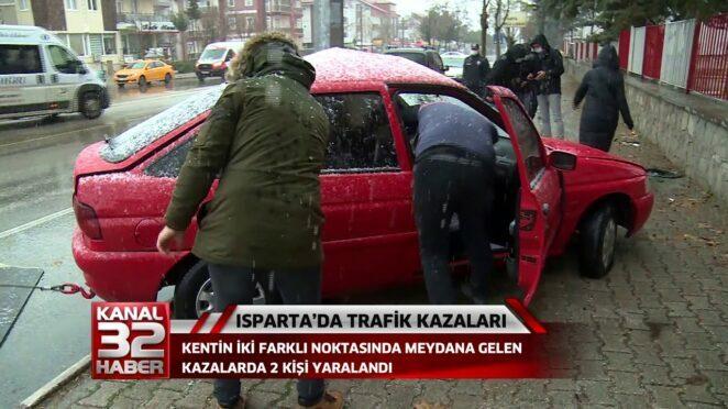 ISPARTADA TRAFİK KAZALARI