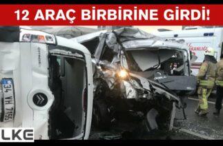 İstanbul Esenyurt TEM Otoyolu'nda zincirleme kaza! Trafik kilit!