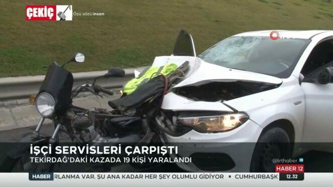 İstanbul ve Tekirdağ Trafik Kazaları 1 Ölü 3.01.2021 TURKEY