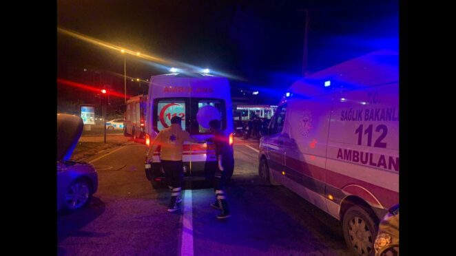 KAHRAMANMARAŞ Trafik kazası 1 ölü, 3 yaralı