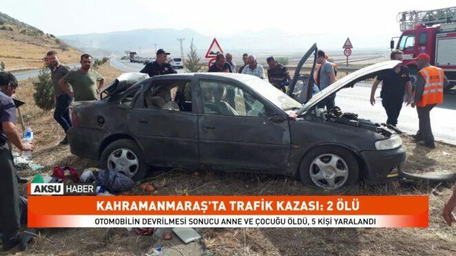Kahramanmaraş'ta trafik kazaları