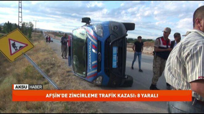 Kahramanmaraş'ta zincirleme trafik kazası: 8 yaralı