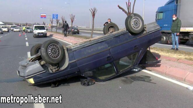 Kayseri'de trafik kazası: 2 yaralı 06.01.2021