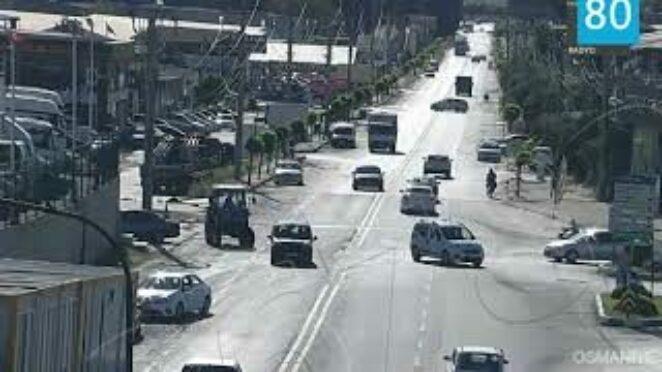 Osmaniye'de trafik kazası görüntüleri