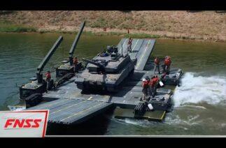 SAMUR Seyyar Yüzücü Hücum Köprüsü, ALTAY tankını başarıyla taşıdı