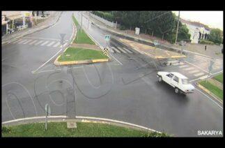 Sakarya'da trafik kazaları KGYS kameralarında