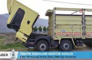 TRAFİK KAZALARI 2020'DE AZALDI / 2 Bin 751 Kazada 16 Kişi Öldü, 1966 Kişi Yaralandı