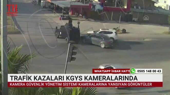 TRAFİK KAZALARI KGYS KAMERALARINDA