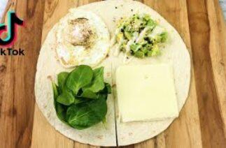 Tiktok Tortilla Wrap Hack | life-changing TIK TOK tortilla wrap hack | Breakfast wrap hack