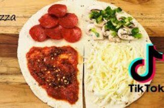 Tiktok Tortilla Wrap Hack | life-changing TIK TOK tortilla wrap hack | PIZZA wrap hack | PIZZA Lunch