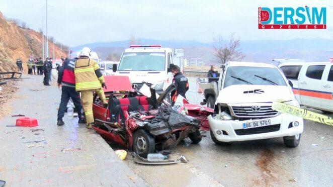 Tunceli'de Feci kazada karı koca öldü, 1 kişi yaralandı