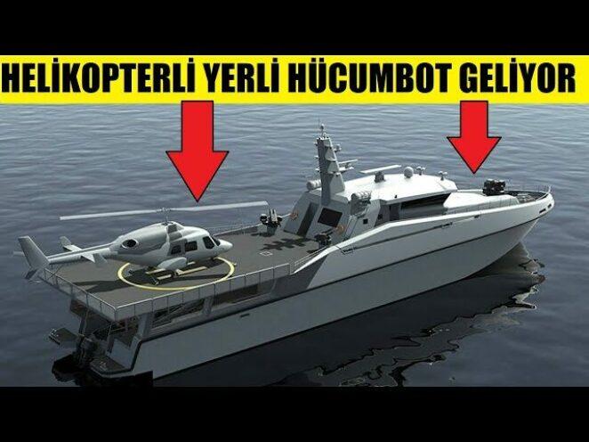 ÜSTÜNDEN F35-B VE HELİKOPTER KALKAN YERLİ HÜCUMBOT ARES-150-SAT GELİYOR !