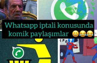 Whatsapp iptali ile ilgili sosyal medyada dolaşan komik paylaşımlar 😀😀