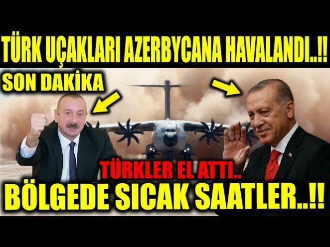 #sondakika TÜRK UÇAKLARI AZERBYCANA MEKİK DOKUYOR..!! AKIL ALMAZ SEVKİYET..!!