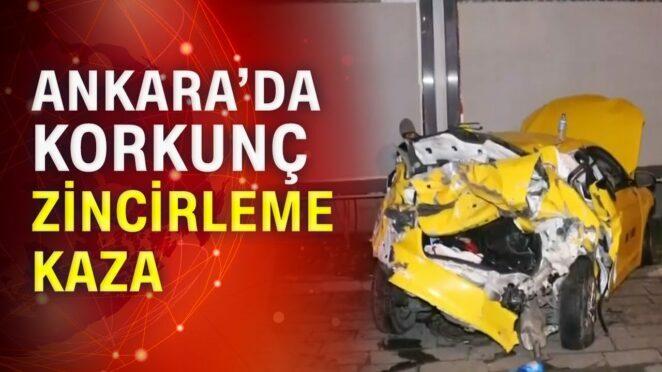 """Ankara'da zincirleme kaza: """" 3 araç birbirine girdi """""""