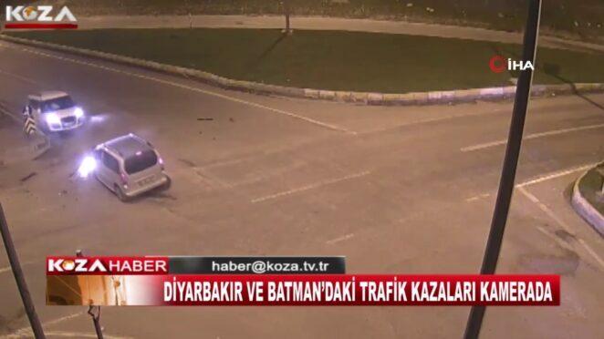 DİYARBAKIR VE BATMAN'DAKİ TRAFİK KAZALARI KAMERADA