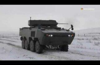 Kazakistan Arma 8×8 üzerinde NEFER İnsansız Silah Kulesi'nin denemelerini yaptı