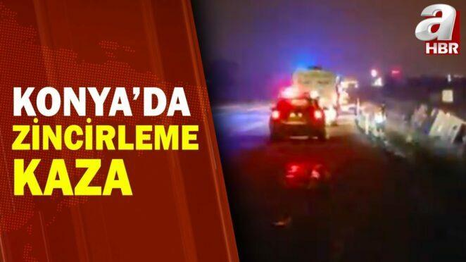 Konya'da Feci Zincirleme Kaza: 5 Ölü 38 Yaralı / A Haber