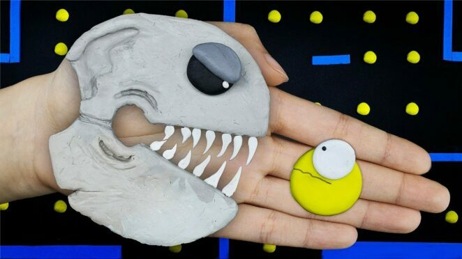 PAC-MAN Monster vs Among Us Zombie Battle – Funny Stop Motion Animation