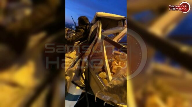 Samsun'da Zincirleme Kaza! 15 Araç Birbirine Girdi
