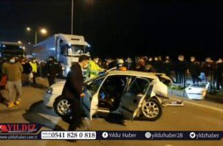 Trafik kazasında 1 ölü, 2'si ağır 4 yaralı…