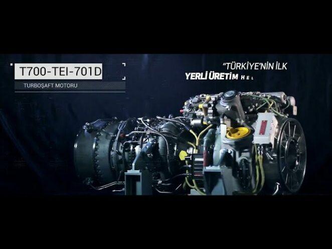 Türkiye'nin ilk yerli üretim helikopter motoru T700-TEI-701D