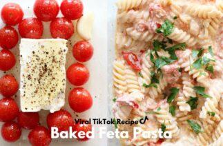 VIRAL TIKTOK BAKED FETA PASTA | PASTA WITH CHERRY TOMATOES & FETA CHEESE