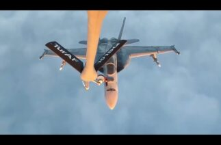ABD Deniz Kuvvetleri'ne ait 4 adet F-18 uçağına Türk Hava Kuvvetleri'nden yakıt ikmali