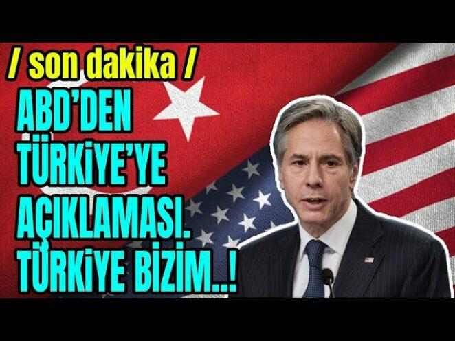 AMERİKADAN İLGİNÇ TÜRKİYE AÇIKLAMASI..TÜRKİYE İLE..!