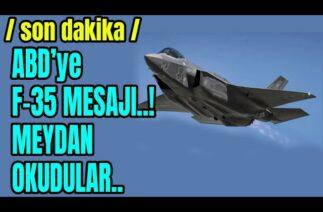 AMERİKAYA F-35 MESAJI..SAVUNMA SANAYİ BAŞKANI PAYLAŞTI..