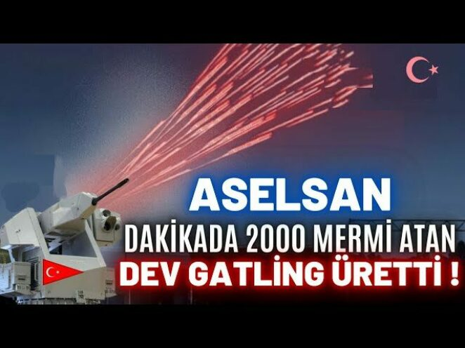 ASELSAN DAKİKADA 2000 MERMİ ATAN GATLİNG SİLAHI ÜRETTİ ! STAMP-G ENVANTERE GİRMEYE HAZIR !!