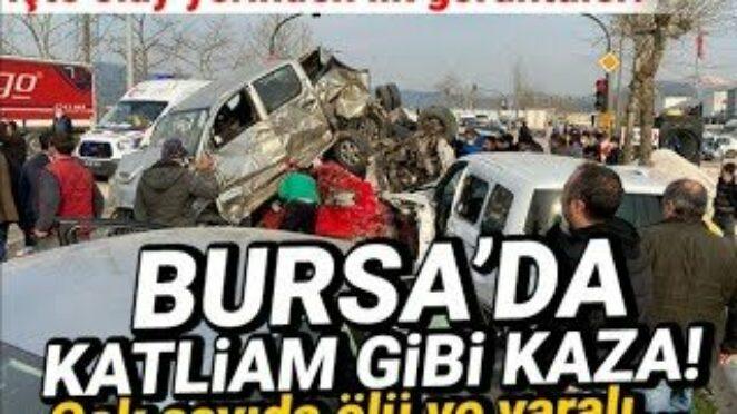 BURSA'DA KATLİAM GİBİ TRAFİK KAZASI / BURSA TIR KAZASI