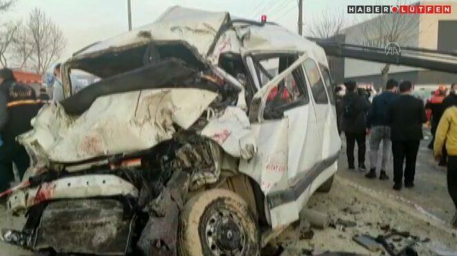 Bursa-Ankara kara yolunda zincirleme trafik kazası: 3 ölü, 21 yaralı