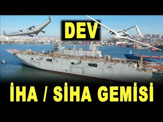 Dev İHA ve SİHA gemisi TCG Anadolu – Giant armed UAV ship – Bayraktar TB2 – Savunma Sanayi