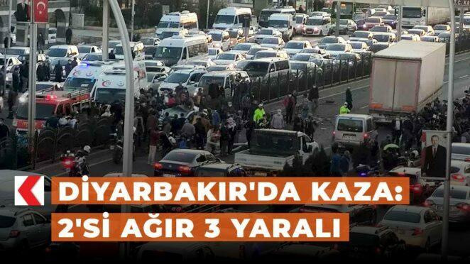 Diyarbakır'da kaza: 2'si ağır 3 yaralı