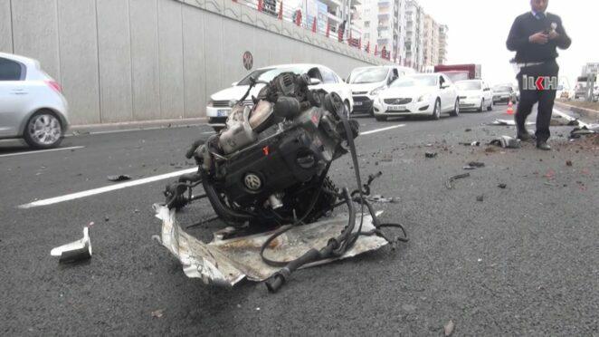 Diyarbakır'da trafik kazası 2 yaralı