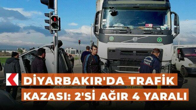 Diyarbakır'da trafik kazası: 2'si ağır 4 yaralı