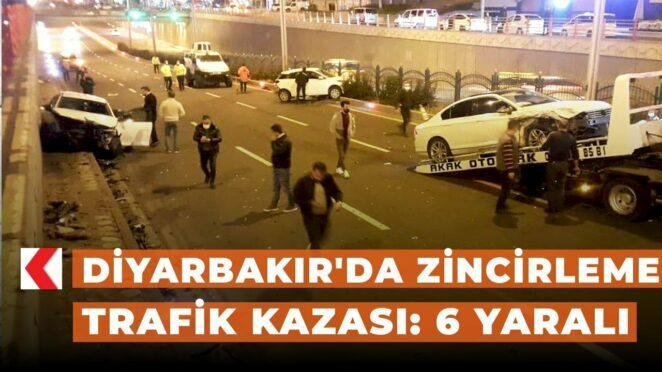 Diyarbakır'da zincirleme trafik kazası: 6 yaralı