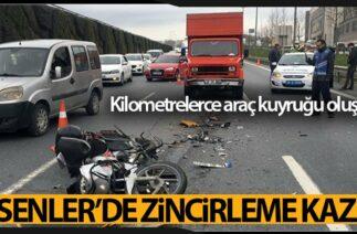 Esenler'de Zincirleme: Trafik Kazası 2 Yaralı